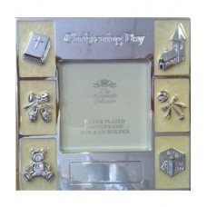 CH502 - Silver Plated Christening DVD holder: You are welcome to visit Clothes Line shop SW London SW20 9NQ