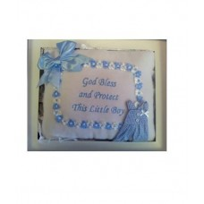 CH506 - Blue And White Pillow: You are welcome to visit Clothes Line shop SW London SW20 9NQ