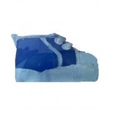 CH515 - Candle in the shape of a little boy's blue shoe: You are welcome to visit Clothes Line shop SW London SW20 9NQ