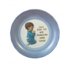 CH522 - Plastic Plate For A Boy: Ideal for Baptism/Christening. You are welcome to visit Clothes Line shop SW London SW20 9NQ for Christening Cards, Gifts, Shawls and Party items