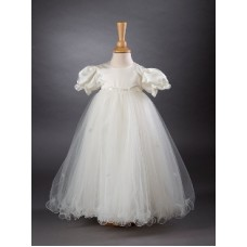 CH355 - A Long Gown With Satin Bodice: You are welcome to visit Clothes Line shop SW London SW20 9NQ