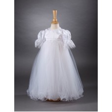 CH363 - A Long Gown With Satin Bodice: You are welcome to visit Clothes Line shop SW London SW20 9NQ