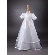 CH364 - A Long Gown Overlayed With Beautiful Organza: You are welcome to visit Clothes Line shop SW London SW20 9NQ