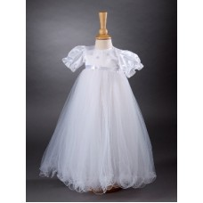 CH366 - A Long Gown With Satin Bodice: You are welcome to visit Clothes Line shop SW London SW20 9NQ