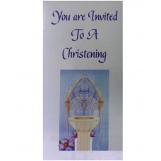 CH565 - Christening Invitation: You are welcome to visit Clothes Line shop SW London SW20 9NQ