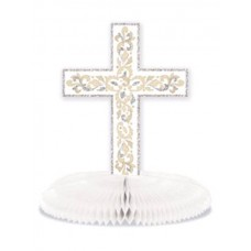 G312 - Christening Table Centre Piece, with Honeycomb Base, 2'x9.5' inches: You are welcome to visit Clothes Line shop SW London SW20 9NQ