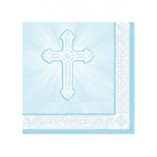 G314 - 16 - Blue Christening Napkins, 13' x 13' inches: You are welcome to visit Clothes Line shop SW London SW20 9NQ