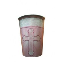 G325 - Christening Hot/Cold Cups in Pink: You are welcome to visit Clothes Line shop SW London SW20 9NQ