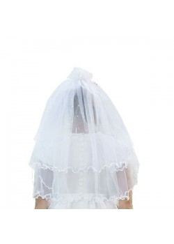 Lovely First Communion Veil with a lovely bob