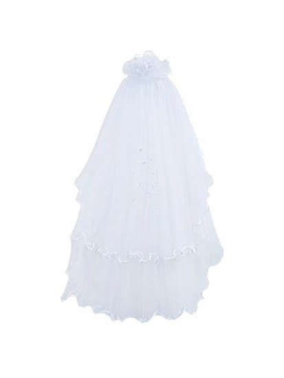 Lovely First Communion Veil with a lovely bob...