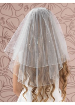 Holy Communion Veil with a diamante cross to match your Communion Dress