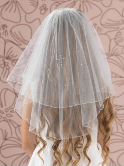 Holy Communion Veil with a diamante cross to match your Communion Dress...