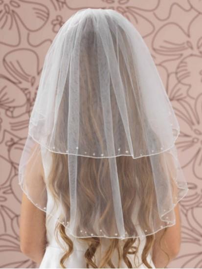 Pearl & Diamante Edge communion veil...