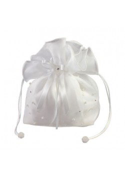 Organza Dolly Bag with Pearl and Diamante for her special First Holy Communion Day