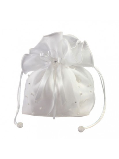 Organza Dolly Bag with Pearl and Diamante for her special First Holy Commun...