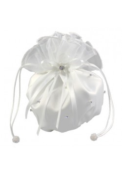 Satin and Organza Dolly Bag with Scattered Diamante for your special Girl on Her Holy Communion Day