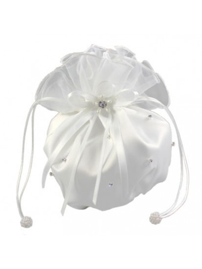 Satin and Organza Dolly Bag with Scattered Diamante for your special Girl o...