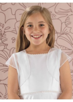 Beaded Tulle First Communion Jacket
