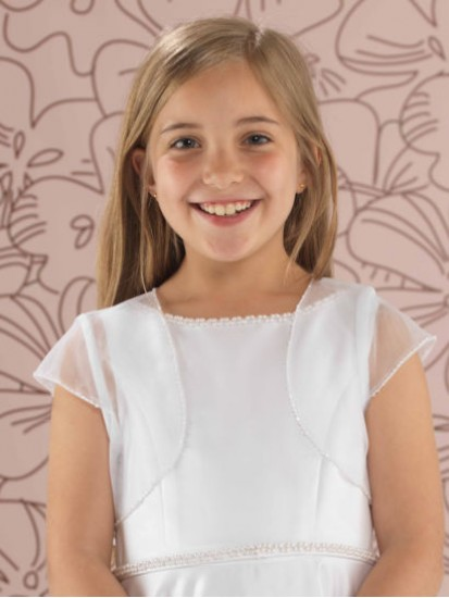 Beaded Tulle First Communion Jacket ...
