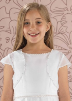 Beaded Organza Jacket for her First Communion Day