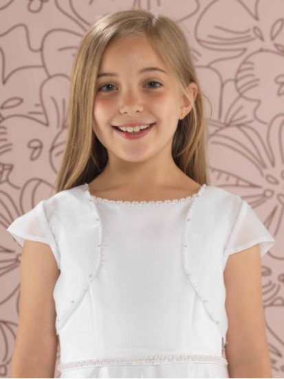 Beaded Organza Jacket for her First Communion Day...