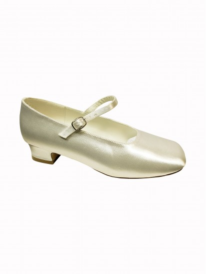 Plain White Satin Communion Shoe...