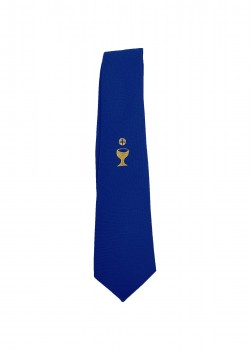 Lovely Blue Tie First Communion with Chalice