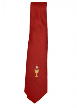 First Holy Communion Red Tie with Chalice