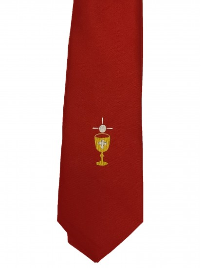 First Holy Communion Red Tie with Chalice...