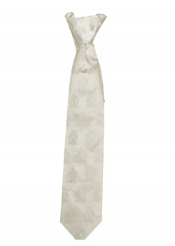 White Tie with Embossed chalice for First Holy Communion