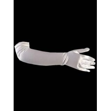 Long Satin Gloves Ideal For First Communion