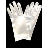 Short Satin Gloves For First Holy Communion