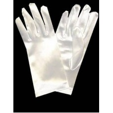 Short Satin Gloves Ideal For Communion