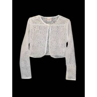 Cotton Lace Bolero with Satin Trim Ideal For First Holy Communion