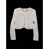 Cotton Lace Bolero with Satin Trim Ideal For Communion