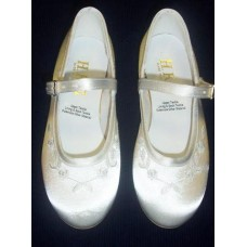 Soft White Satin Shoes Ideal For First Communion