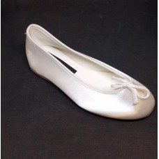 Soft White Satin Shoes Ideal For First Communion: Special May rediction