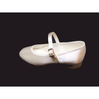 Soft White Satin Shoes With Heal Ideal For First Communion