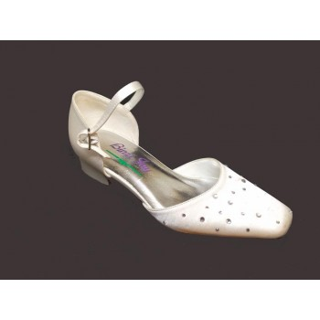 White Mid Heal Shoes Ideal For First Communion