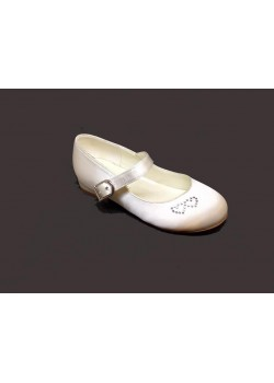 White Low Heal Shoes Ideal For Holy Communion