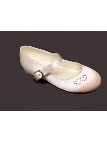 White Low Heal Shoes Ideal For Holy Communion...