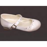 White Low Heal Shoes Ideal For First Communion