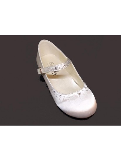 White Low Heal Shoes Ideal For First Communion...