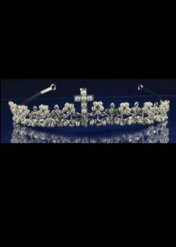 Silver Tiara with Cross Detail and Cross Necklace Ideal For Holy Communion