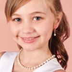 Childrens Pearl  Necklace Bracelet and Earrings Jewellery Set