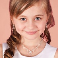Child's Necklace Earrings & Bracelet Crystal Jewellery Set: For that special child on her First Holy Communion Day