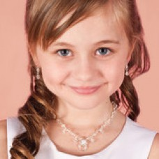 Childrens Necklace Earrings & Bracelet Crystal Jewellery Set