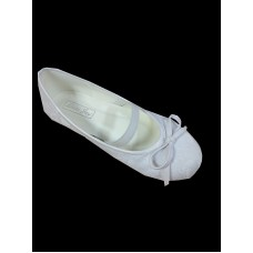 Lace covered Ballet Shoe with Elastic Strap