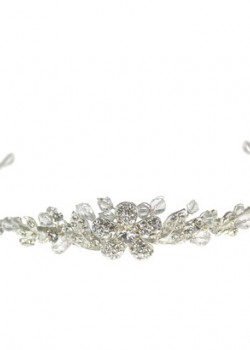 Diamante Centre Flower Tiara that will compliment the First Communion Dress as well as Communion Veil