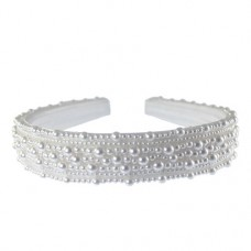 Pearl Broad Hairband: 1 inch wide